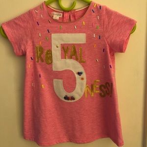 Girls 5 year old birthday shirt!
